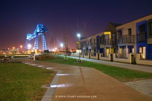 Exterior view of Middlehaven at night