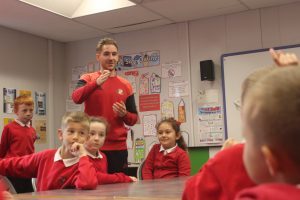 Foundation of Light delivering a learning session with Evenwood Primary pupils