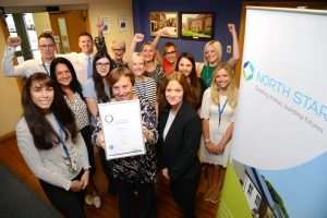 Our staff with the Investors In People Platinum award