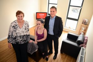Stockton South MP Paul Williams visiting a tenant at a supported housing scheme