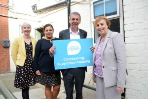 Hartlepool MP Mike Hill and North Star staff visiting a women's refuge in Hartlepool.