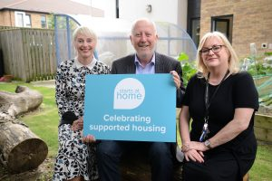 Middlesbrough MP Andy McDonald visiting one of North Star's supported housing schemes in Middlesbrough