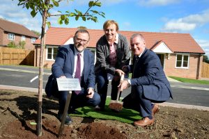 Tree planting at Middleton St George
