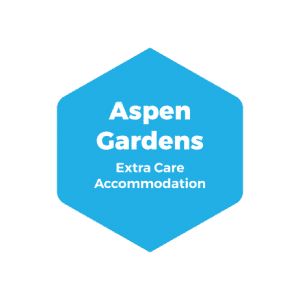 Aspen gardens Extra Care Accommodation sign